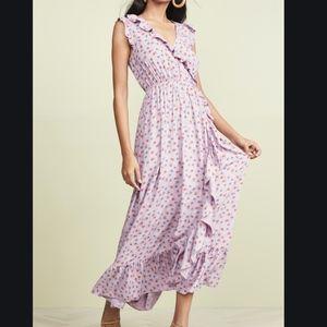 NWT Madewell Ruffle-Edged Wrap Maxi Dress